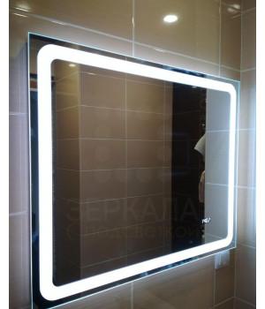 Зеркало для ванной комнаты с LED подсветкой Равенна 85х85см (850х850 мм)