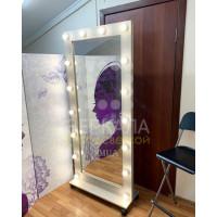 Гримерное зеркало с подсветкой на подставке 180х80 Дуб Сонома