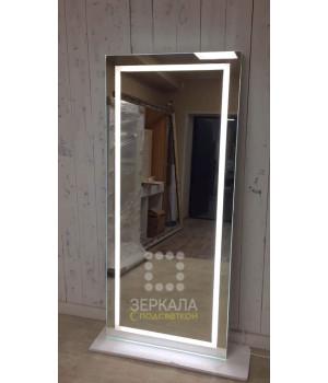 Гримерное зеркало со светодиодной LED подсветкой 180х80 см