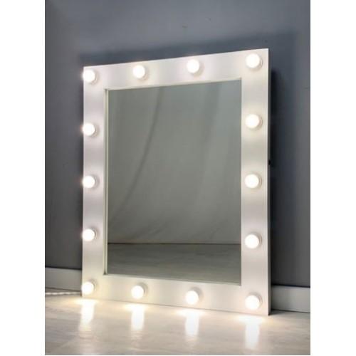 Гримерное зеркало с подсветкой лампочками 100х80 см 14 ламп