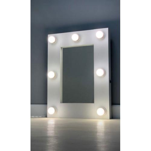 Гримерное зеркало с подсветкой лампочками 60х45 см 7 ламп