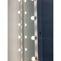 Гримерное зеркало на подставке с колесиками 180x80 белое матовое с подсветкой