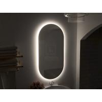 Зеркало в ванную комнату с подсветкой светодиодной лентой Бикардо