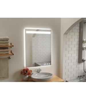 Зеркало в ванную комнату с подсветкой светодиодной лентой Капачо
