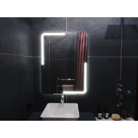 Зеркало в ванную комнату с подсветкой светодиодной лентой Керамо