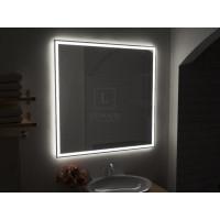 Зеркало в ванную комнату с подсветкой светодиодной лентой Люмиро Слим