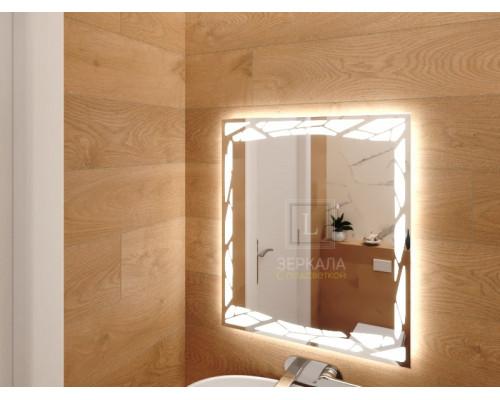 Зеркало в ванную комнату с подсветкой Ночетта