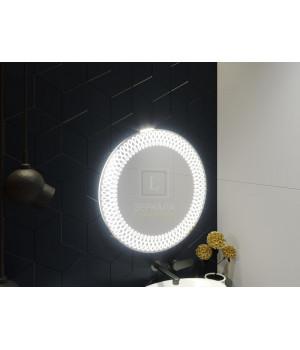 Зеркало в ванную комнату с подсветкой светодиодной лентой Варедо