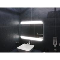 Зеркало в ванную комнату с подсветкой светодиодной лентой Вильнос