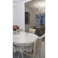 Квадратная зеркальная плитка бронза 250х250 мм