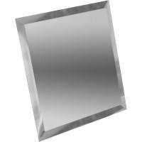 Квадратная зеркальная плитка серебро 180х180 мм