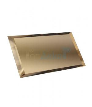 Прямоугольная зеркальная плитка бронза 240х120 мм