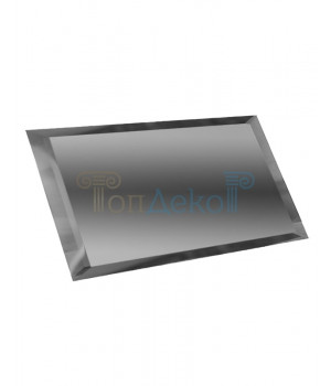 Прямоугольная зеркальная плитка графит 480х120 мм