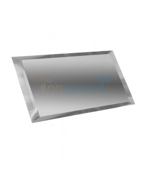 Прямоугольная зеркальная плитка серебро 200х100 мм