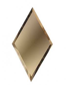 Зеркальная плитка вытянутый ромб бронза 300х510 мм