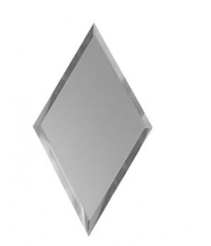 Зеркальная плитка вытянутый ромб серебро 200х340 мм