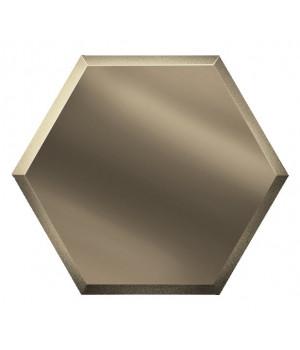 Шестигранная зеркальная плитка соты бронза 300х259 мм