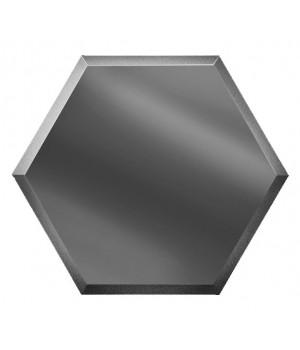 Шестигранная зеркальная плитка соты графит 200х173 мм