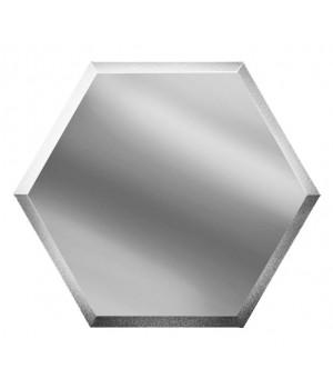 Шестигранная зеркальная плитка соты серебро 300х259 мм