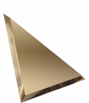 Треугольная зеркальная плитка бронза 250х250 мм