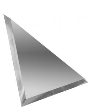 Треугольная зеркальная плитка серебро 300х300 мм