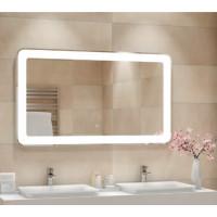 Зеркало в ванную комнату с контурной подсветкой светодиодной лентой Мила
