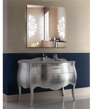 LED подсветка в зеркале для ванной София 80x80 см