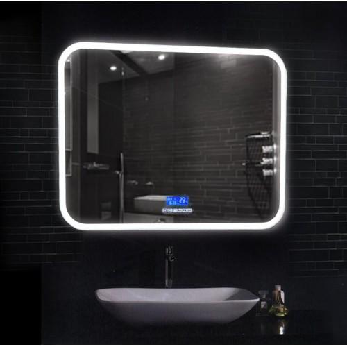 Большое зеркало в ванную комнату с подсветкой Демьюр
