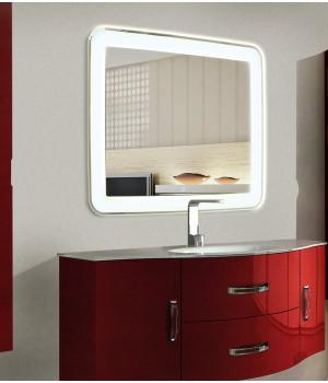 Зеркало в ванную комнату с подсветкой Мила 160х60см (1600х600 мм)